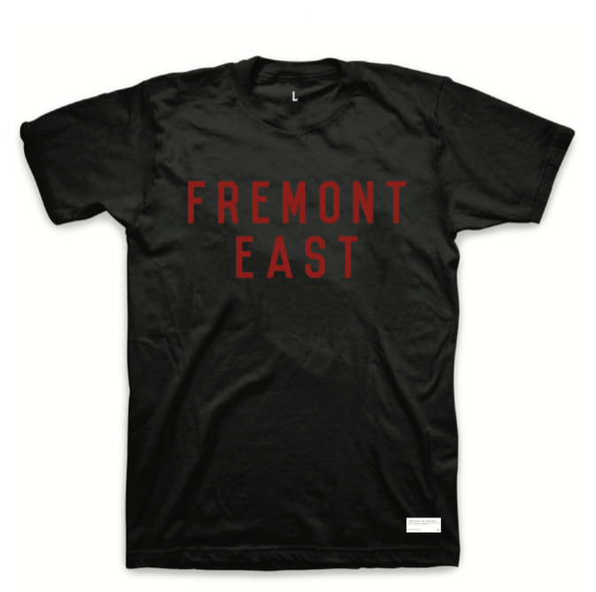 FREMONT EAST TEE // BLACK & RED