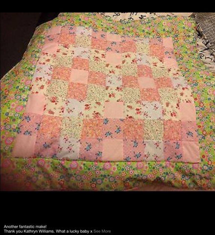 Patchwork baby playmat