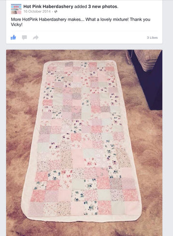 patchwork quilt topper