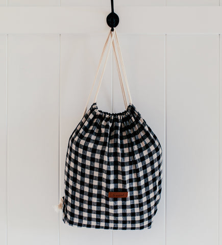 DIY drawstring backpack easy bag making projects