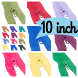"10"" Nylon Trebla Autoclock Zips in 49 shades; the perfect zip for every sewing project"