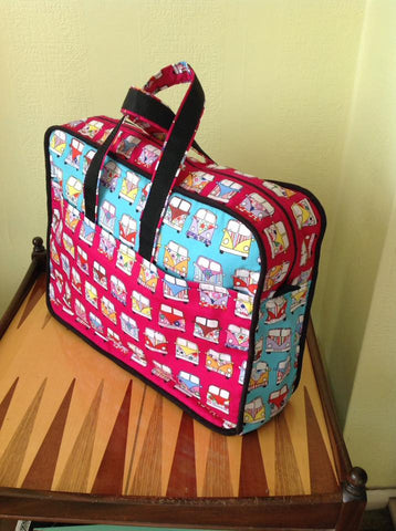 Campervan Weekend Bag - Hot Pink Haberdashery