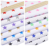 Bold Stars on White - Polycotton Print