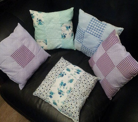 Patchwork Cushions - Hot Pink Haberdashery