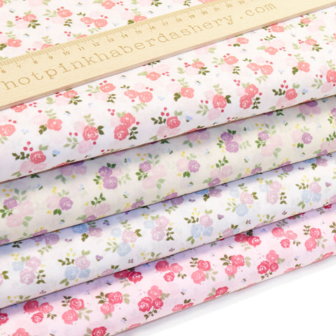 Rose Bouquets - Polycotton Prints