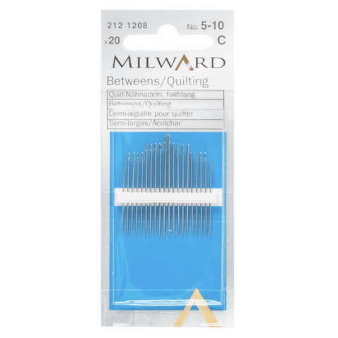 Milward Hand Sewing BETWEENS/QUILTING Needles: Nos. 5-10
