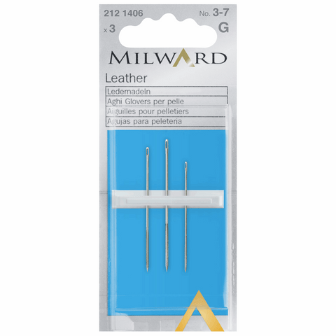 Milward Hand Sewing LEATHER Needles: Nos. 3-7