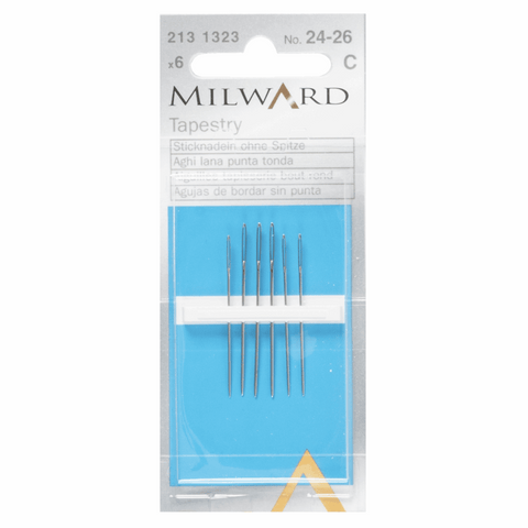 Milward Hand Sewing TAPESTRY Needles: Nos. 24-26