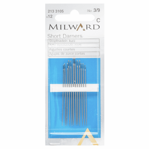 Milward Hand Sewing Needles: SHORT DARNERS: Nos. 3-9