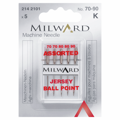 Milward Sewing Machine Needles - Assorted Jersey Ballpoint