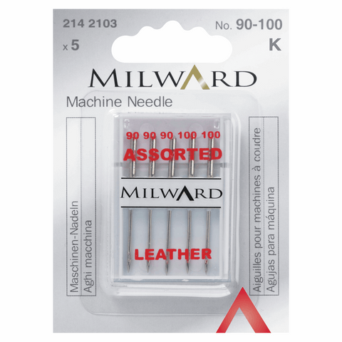 Milward Sewing Machine Needles - Assorted Leather
