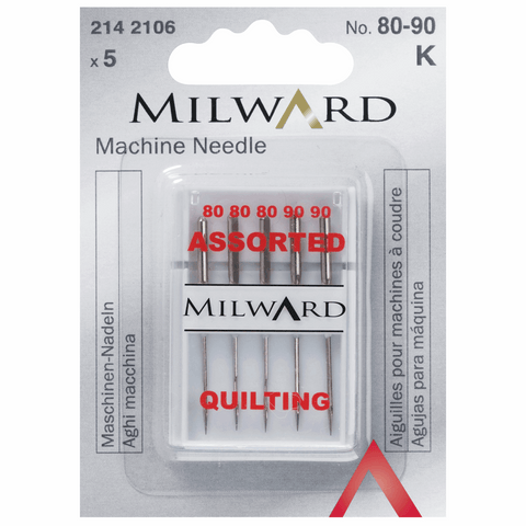 Milward Sewing Machine Needles - Quilting Assorted