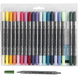 20 additional pastel different colour pack of textile markers with double felt tips