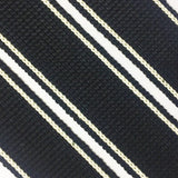 34mm premium soft touch striped webbing for bag making in black - Hot Pink Haberdashery