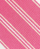 34mm premium soft touch striped webbing for bag making in lacca - Hot Pink Haberdashery