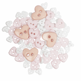 Trimits Heart Mini Craft Buttons