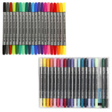 20 bright and pastel different colour pack of textile markers with double felt tips