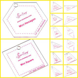 Sew Easy Mini Patchwork Quilting Templates 14 Shapes