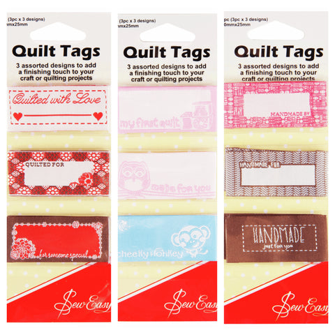 Sew Easy Quilt Tags Assorted Designs