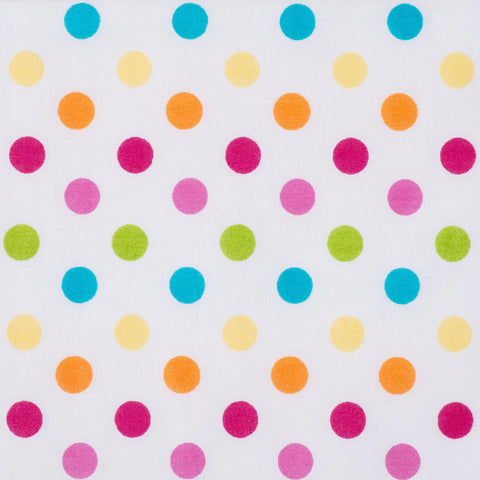 Pick N Mix: Bright Multi Polka Dot - Hot Pink Haberdashery