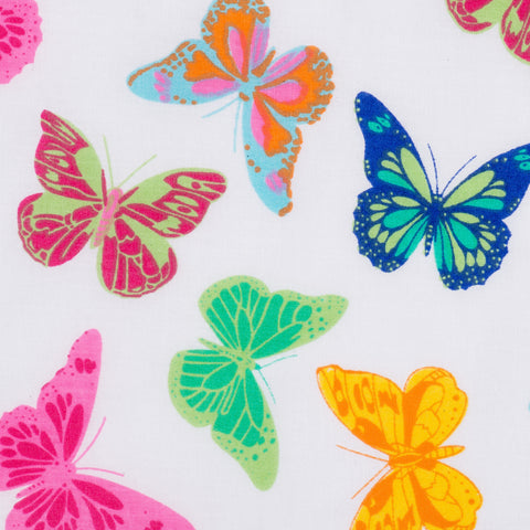 Pick N Mix: Butterflys Yellow - Hot Pink Haberdashery