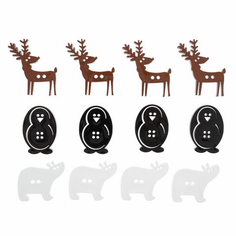 Trimits Christmas Festive Animal Buttons - Pack of 30g