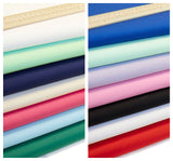 Plains in 26 colours- 100% Cotton Poplin Fabric by Rose & Hubble