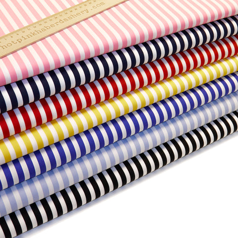 Bold stripes - 100% Cotton Poplin Fabric by Rose & Hubble