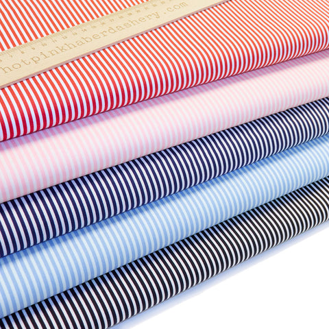 Candy Stripes - 100% Cotton Poplin Fabric by Rose & Hubble
