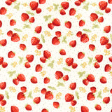 Wild Strawberries - 100% Cotton Poplin Fabric by Rose & Hubble