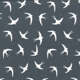 Flying Swallows - 100% Cotton Poplin Fabric by Rose & Hubble