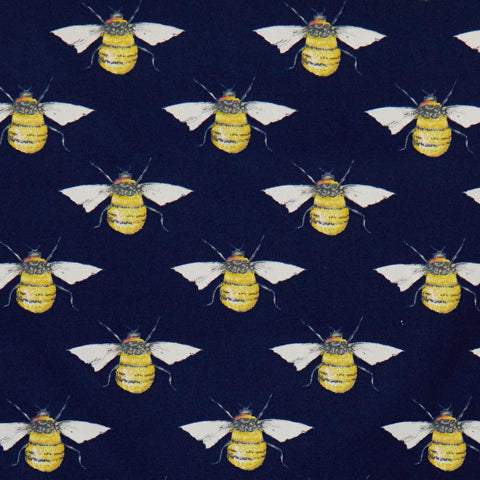 Bumblebees - 100% Cotton Poplin Fabric by Rose & Hubble