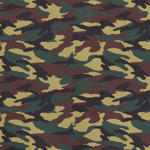 Camouflage - 100% Cotton Poplin Fabric by Rose & Hubble