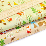 Fox & Bear Forest Camp - 100% Cotton Poplin Fabric by Rose & Hubble