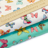 Butterflies - 100% Cotton Poplin Fabric by Rose & Hubble