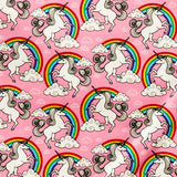 Unicorns & Rainbows - 100% Cotton Poplin Fabric by Rose & Hubble