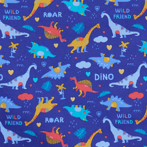 Dinosaurs - 100% Cotton Poplin Fabric by Rose & Hubble