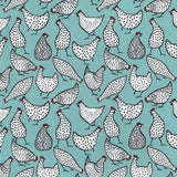 Chickens - 100% Cotton Poplin Fabric by Rose & Hubble