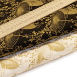 Golden Parasols - 100% Cotton Poplin Fabric by Rose & Hubble