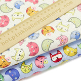 COLOURFUL CATS - 100% COTTON POPLIN FABRIC BY ROSE & HUBBLE