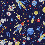 Rockets - 100% Cotton Poplin Fabric By Rose & Hubble