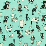 Quirky Cats - 100% Cotton Poplin Fabric by Rose & Hubble