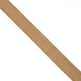 25mm 100% brushed cotton webbing in camel for dog leads and bag making - Hot Pink Haberdashery