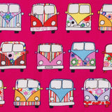 Campervans - 100% Cotton Poplin Fabric by Rose & Hubble