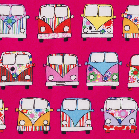 Pick N Mix: Cotton Campervans Cerise