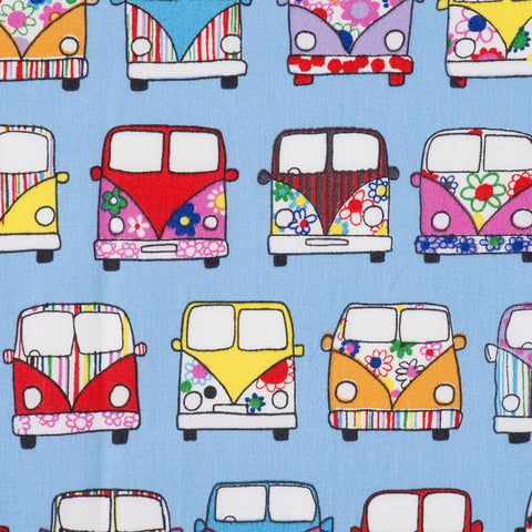 Pick N Mix: Cotton Campervans Pale Blue