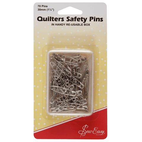 Sew Easy Quilters Safety Pins - 30mm