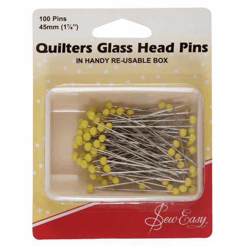Sew Easy Quilters Glass Head Pins - 50mm