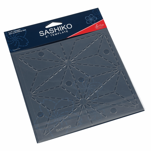 "6"" Asa no ha (Hemp leaf) Sashiko Template"