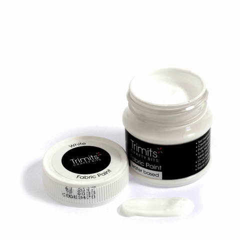 Trimits Fabric Paint Pot - White